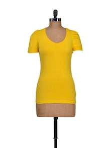 Bright Yellow Stretch Top - Harpa