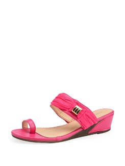 Pink Slip On Sandals - Carlton London