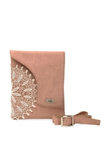 Lace Love Pink Sling Bag - YELLOE