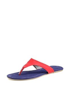 Red And Blue Canvas Sandals - Carlton London