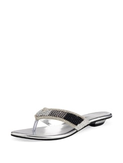 Silver, Grey And Black Sandals - Carlton London