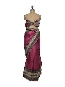 Stylish Pink Bhagalpuri Silk Saree - ROOP KASHISH