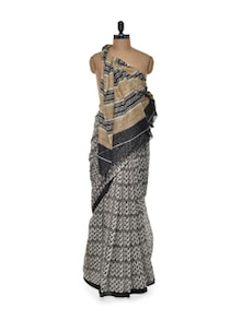 White And Black Saree - ROOP KASHISH