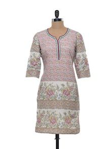 Floral Multicoloured Kurta - AKS