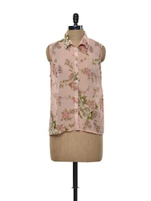Pink Floral Top - Purys