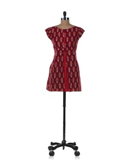 Floral Print Origami Inspired Tunic - ENAH