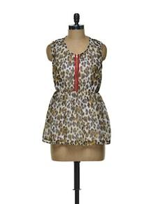 Leopard Print Top - CHERYMOYA
