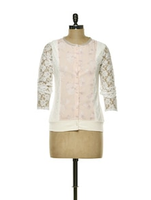 Pretty Peach Lace Top - CHERYMOYA