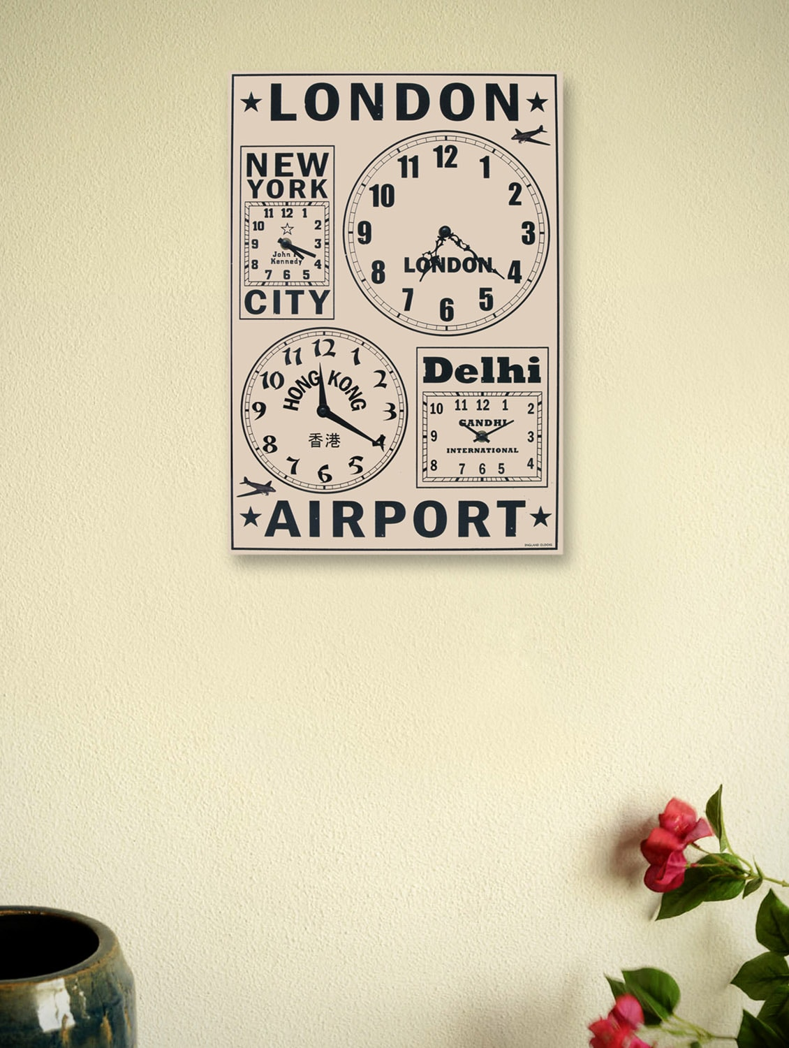 Frequent Flyers Wall Clock - Kairos