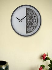 White Half Gear Circle Wall Clock available at Limeroad for Rs.12023