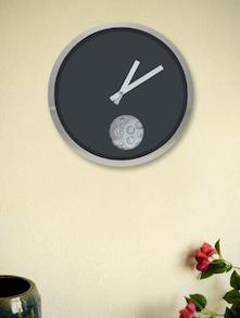 Black Single Eye Gear Wall Clock - Kairos
