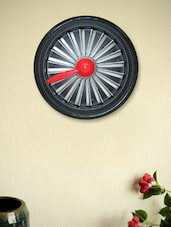 Black & Red Jet Engine Wall Clock - Kairos