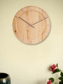Natural Brown Wood Wall Clock - Karlsson