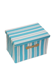 Kids Storage Box With Blue And White Stripes ( Medium) - Uberlyfe