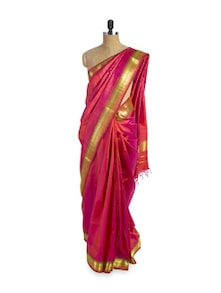 Pink And Gold Saree - Pratiksha