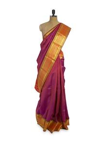 Maroon And Orange Saree - Pratiksha