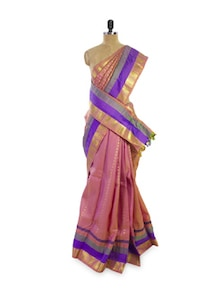Light Pink Silk Saree - Pratiksha