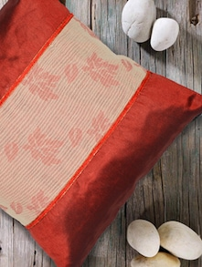 Mid Cotton With Lace Cushion Cover - Nakalchee Bandar