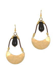 Designer Golden Danglers & Drop Earrings - Zara Deals