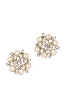 Gorgeous Diamond With White Pearl Earrings - Zara Deals