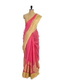 Pretty Pink And Gold Saree - Pothys