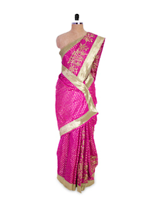 Pink And Gold Saree - Pothys