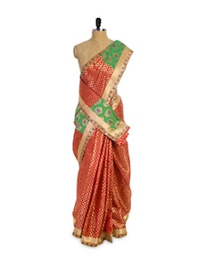Maroon And Gold Saree - Pothys