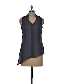 Blue And Black Top - Meira
