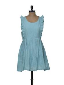 Ruffled Sky Blue Dress - Tapyti