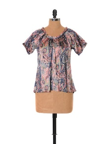 Smooth Satin Printed Top - URBAN RELIGION