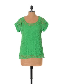 Garden Tone Lace Top - URBAN RELIGION