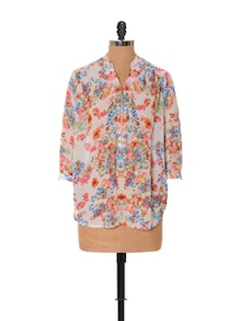 Floral Toned Breezy Top - URBAN RELIGION