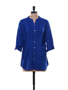 Cotton Shirt With Ruffled Plackat - URBAN RELIGION