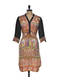 Artistic Crepe Long Tunic - Indie Cotton Route