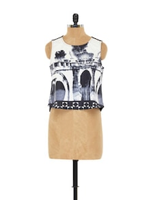 Black And White Short Top - EVogue.Me