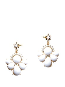 White Stone Earrings - Miss Chase