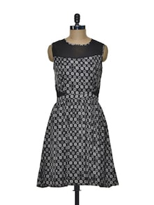 Exquisite-in-black Polyester And Lace Dress - Mishka