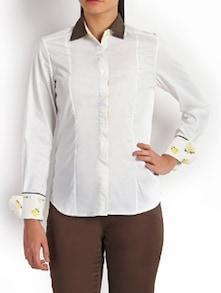 Winsome White Formal Shirt - Kaaryah