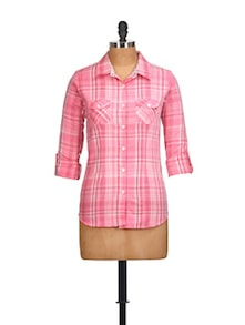 Candy Pink Checked Shirt - Overdrive