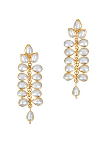 White Pearls And Gold Earrings - Earrings & More....