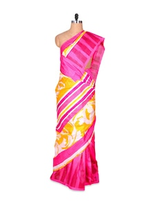 Gorgeous Pink Art Silk Saree - Hypno Tex
