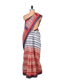 Sober Grey Art Silk Saree - Hypno Tex