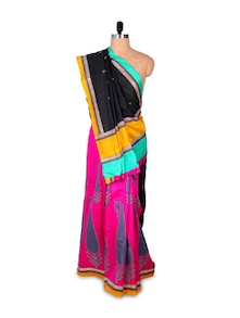 Beautiful Pink Art Silk Saree - Hypno Tex