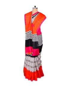 Colourful Art Silk Saree - Hypno Tex