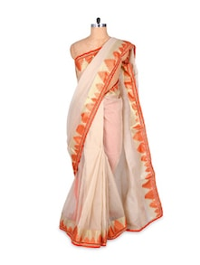 Ethereal in white handloom cotton saree - Hypno tex
