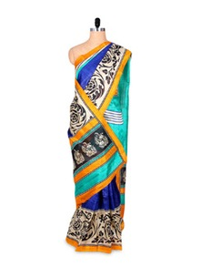 Colourful Art Silk Printed Saree - Hypno Tex