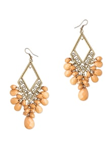 Peach Chandelier Earrings - Blend Fashion Accessories