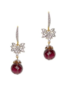 Maroon Drop Earrings - YOUSHINE