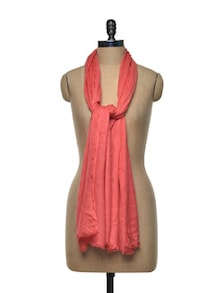 Carrot Red Viscose Scarf - Sage