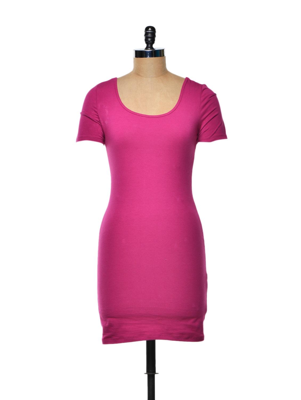 Preppy Pink Cotton Knit Tunic - TREND SHOP